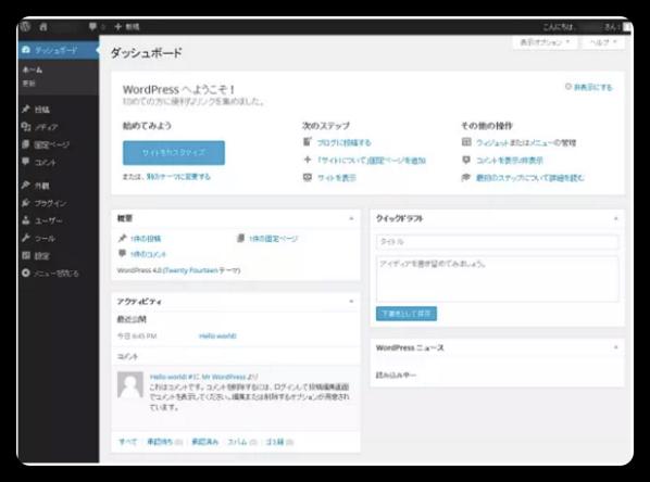 Wordpress,ダッシュボード