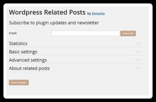 Wordpress Related Posts,設定