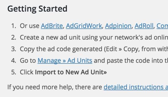 設定方法,Ad Units