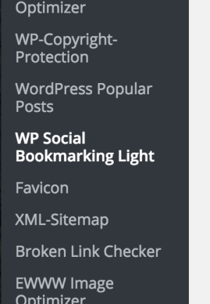 WP Socialbookmarking Light,設定方法