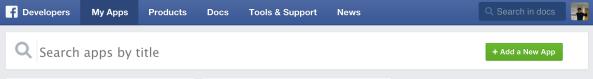 Facebook,アプリケーション検索