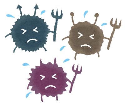 ウイルス 細菌 ちがい