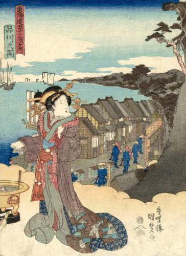 東海道五十三次之内 品川之図